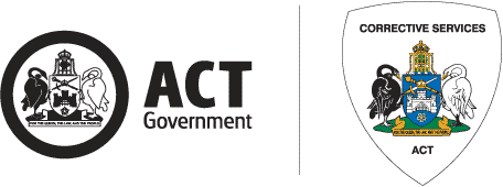 ACT Government emblem and ACT Corrective Services emblem